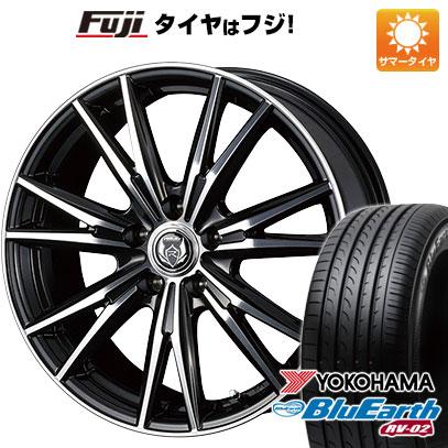 タイヤはフジ 送料無料 WEDS ウェッズ ライツレー DK 6.5J 6.50-16 YOKOHAMA ブルーアース RV-02 205/65R16 16インチ サマータイヤ ホイール4本セット