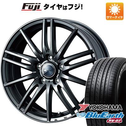 タイヤはフジ 送料無料 WEDS ウェッズ ザミック ティート 6J 6.00-15 YOKOHAMA ブルーアース RV-02 195/65R15 15インチ サマータイヤ ホイール4本セット