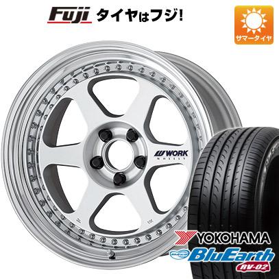 タイヤはフジ 送料無料 WORK ワーク マイスター L1 3P 8J 8.00-18 YOKOHAMA ブルーアース RV-02 225/45R18 18インチ サマータイヤ ホイール4本セット