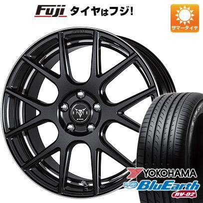 タイヤはフジ 送料無料 WORK ワーク レイバー M006 8J 8.00-19 YOKOHAMA ブルーアース RV-02 225/55R19 19インチ サマータイヤ ホイール4本セット