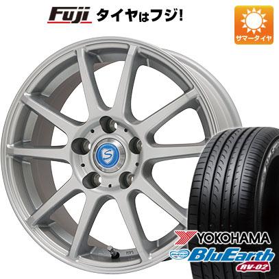 タイヤはフジ 送料無料 BRANDLE ブランドル 302 6.5J 6.50-16 YOKOHAMA ブルーアース RV-02 215/65R16 16インチ サマータイヤ ホイール4本セット
