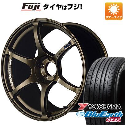 タイヤはフジ 送料無料 YOKOHAMA ヨコハマ アドバンレーシング RGIII 8.5J 8.50-19 YOKOHAMA ブルーアース RV-02 225/40R19 19インチ サマータイヤ ホイール4本セット