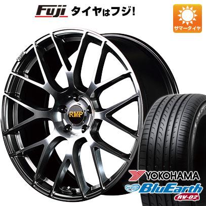 タイヤはフジ 送料無料 MID RMP 028F 8.5J 8.50-20 YOKOHAMA ブルーアース RV-02 245/40R20 20インチ サマータイヤ ホイール4本セット