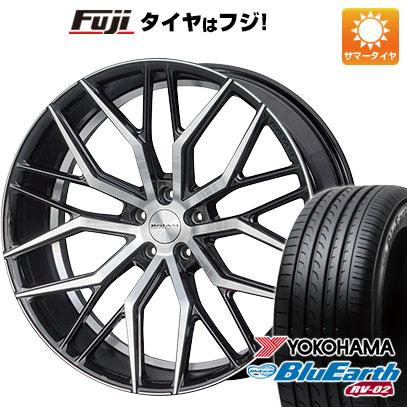 タイヤはフジ 送料無料 ROJAM ロジャム ファスター 7.5J 7.50-19 YOKOHAMA ブルーアース RV-02 225/45R19 19インチ サマータイヤ ホイール4本セット