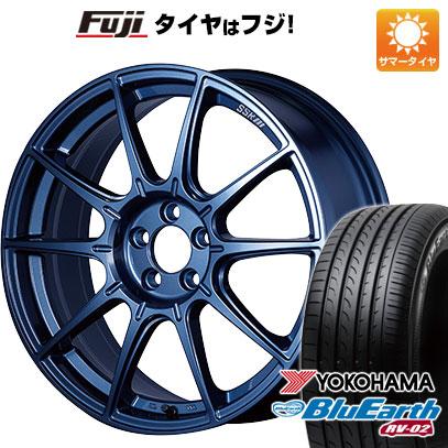 タイヤはフジ 送料無料 SSR GTX01 LIMITED EDITION 7.5J 7.50-18 YOKOHAMA ブルーアース RV-02 225/55R18 18インチ サマータイヤ ホイール4本セット