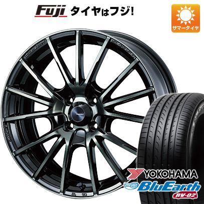 タイヤはフジ 送料無料 WEDS ウェッズスポーツ SA-35R 7.5J 7.50-17 YOKOHAMA ブルーアース RV-02 225/60R17 17インチ サマータイヤ ホイール4本セット