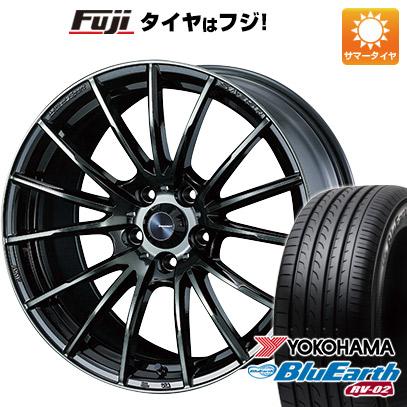 タイヤはフジ 送料無料 WEDS ウェッズスポーツ SA-35R 7.5J 7.50-18 YOKOHAMA ブルーアース RV-02 225/55R18 18インチ サマータイヤ ホイール4本セット