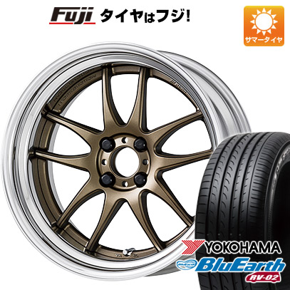 タイヤはフジ 送料無料 WORK ワーク エモーション CR 2P 7.5J 7.50-17 YOKOHAMA ブルーアース RV-02 225/65R17 17インチ サマータイヤ ホイール4本セット