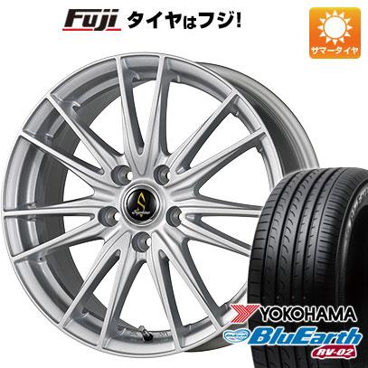タイヤはフジ 送料無料 WORK ワーク セプティモ G02 シルバーメタリック 6.5J 6.50-16 YOKOHAMA ブルーアース RV-02 205/60R16 16インチ サマータイヤ ホイール4本セット