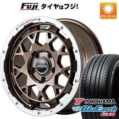 タイヤはフジ 送料無料 RAYS レイズ デイトナ M9 7J 7.00-17 YOKOHAMA ブルーアース RV-02 225/60R17 17インチ サマータイヤ ホイール4本セット