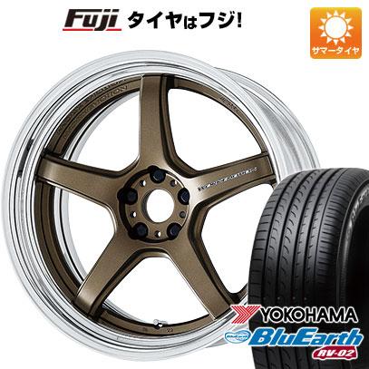 タイヤはフジ 送料無料 WORK ワーク エモーション T5R 2P 8J 8.00-20 YOKOHAMA ブルーアース RV-02 245/40R20 20インチ サマータイヤ ホイール4本セット