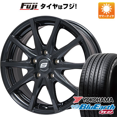 タイヤはフジ 送料無料 BRANDLE ブランドル M71B 7.5J 7.50-18 YOKOHAMA ブルーアース RV-02 235/50R18 18インチ サマータイヤ ホイール4本セット