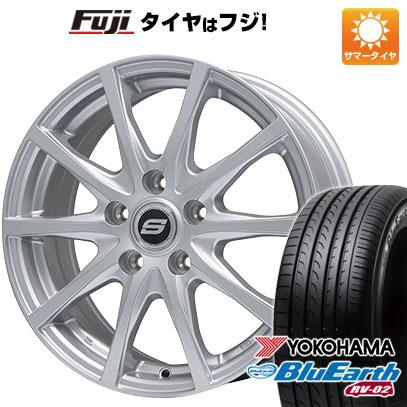 タイヤはフジ 送料無料 BRANDLE ブランドル M71 6.5J 6.50-16 YOKOHAMA ブルーアース RV-02 205/65R16 16インチ サマータイヤ ホイール4本セット