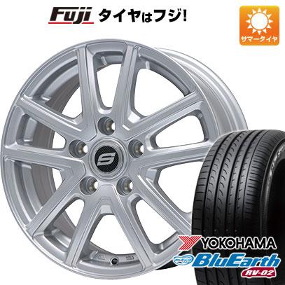 タイヤはフジ 送料無料 BRANDLE ブランドル M61 6.5J 6.50-16 YOKOHAMA ブルーアース RV-02 215/65R16 16インチ サマータイヤ ホイール4本セット