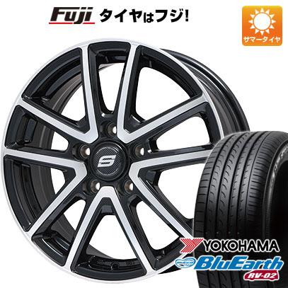タイヤはフジ 送料無料 BRANDLE ブランドル M61BP 6.5J 6.50-16 YOKOHAMA ブルーアース RV-02 215/60R16 16インチ サマータイヤ ホイール4本セット