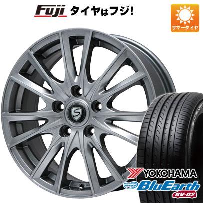 タイヤはフジ 送料無料 BRANDLE ブランドル 485 7.5J 7.50-18 YOKOHAMA ブルーアース RV-02 235/55R18 18インチ サマータイヤ ホイール4本セット