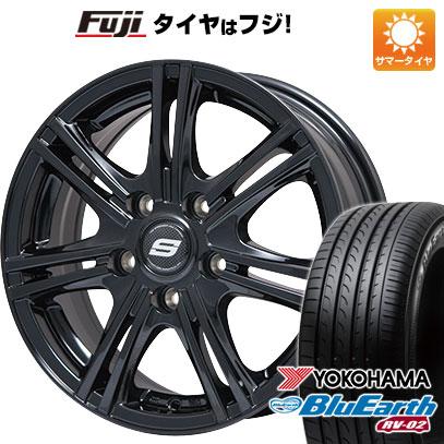 タイヤはフジ 送料無料 BRANDLE ブランドル M68B 7.5J 7.50-18 YOKOHAMA ブルーアース RV-02 225/60R18 18インチ サマータイヤ ホイール4本セット