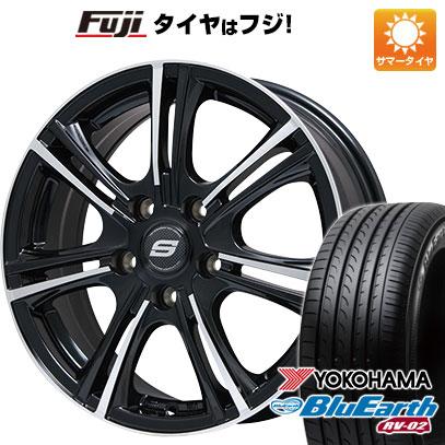 タイヤはフジ 送料無料 BRANDLE ブランドル M68BP 7.5J 7.50-18 YOKOHAMA ブルーアース RV-02 225/55R18 18インチ サマータイヤ ホイール4本セット