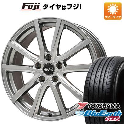 タイヤはフジ 送料無料 BRANDLE ブランドル N52 7.5J 7.50-18 YOKOHAMA ブルーアース RV-02 235/50R18 18インチ サマータイヤ ホイール4本セット