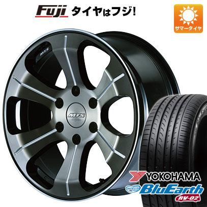 タイヤはフジ 送料無料 ハイエース200系 M-TECHNO エムテクノ M.T.S. MJ18-04S 8J 8.00-18 YOKOHAMA ブルーアース RV-02 225/50R18 18インチ サマータイヤ ホイール4本セット