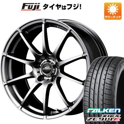 タイヤはフジ 送料無料 MID シュナイダー スタッグ 7J 7.00-17 FALKEN ジークス ZE914F 225/65R17 17インチ サマータイヤ ホイール4本セット