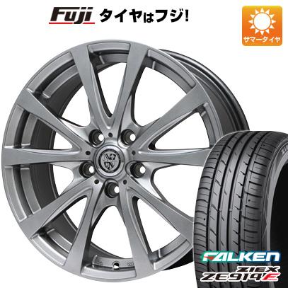タイヤはフジ 送料無料 BIGWAY ビッグウエイ TRG バーン 7.5J 7.50-18 FALKEN ジークス ZE914F 215/40R18 18インチ サマータイヤ ホイール4本セット