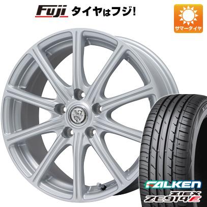 タイヤはフジ 送料無料 BIGWAY ビッグウエイ TRG SS10限定 7.5J 7.50-18 FALKEN ジークス ZE914F 225/40R18 18インチ サマータイヤ ホイール4本セット