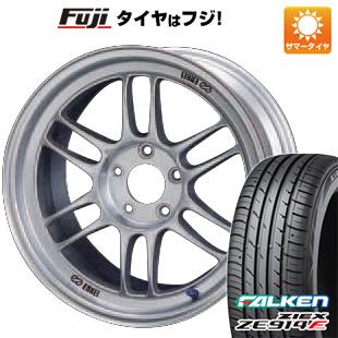 タイヤはフジ 送料無料 ENKEI エンケイ RP-F1 7J 7.00-16 FALKEN ジークス ZE914F 195/55R16 16インチ サマータイヤ ホイール4本セット