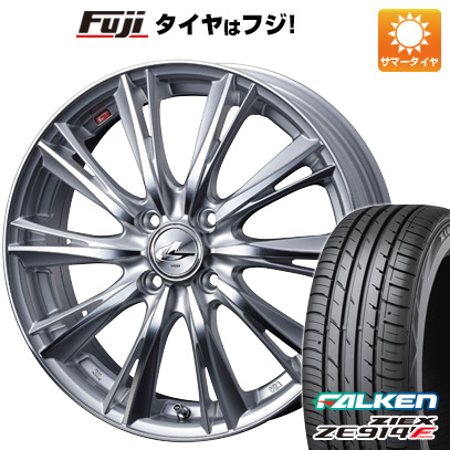 タイヤはフジ 送料無料 S660用 WEDS ウェッズ レオニス WX F:4.50-15 R:6.00-16 FALKEN ジークス ZE914F F:165/55R15 R:195/45R16 サマータイヤ ホイール4本セット