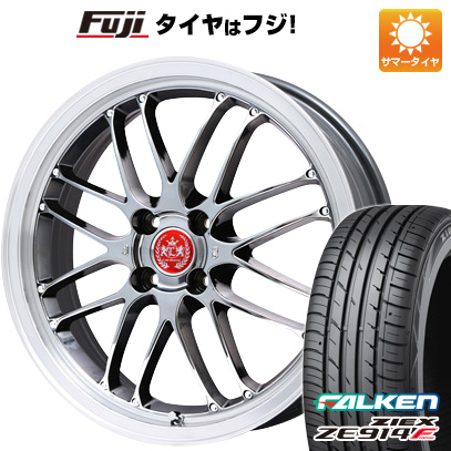 タイヤはフジ 送料無料 LEHRMEISTER レアマイスター ブルネッロ(SBC/リムポリッシュ) 6.5J 6.50-16 FALKEN ジークス ZE914F 195/50R16 16インチ サマータイヤ ホイール4本セット