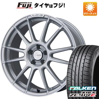 タイヤはフジ 送料無料 LEHRMEISTER LM-S トスカーナ6 (スパークルシルバー/リムポリッシュ) 7.5J 7.50-18 FALKEN ジークス ZE914F 235/50R18 18インチ サマータイヤ ホイール4本セット