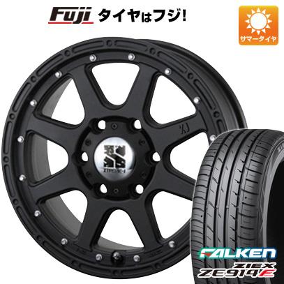 タイヤはフジ 送料無料 MLJ エクストリームJ 7.5J 7.50-17 FALKEN ジークス ZE914F 225/65R17 17インチ サマータイヤ ホイール4本セット