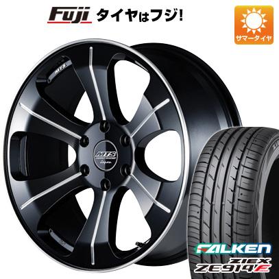 タイヤはフジ 送料無料 ハイエース200系 M-TECHNO エムテクノ M.T.S. MJ18-03S 8J 8.00-18 FALKEN ジークス ZE914F 225/50R18 18インチ サマータイヤ ホイール4本セット