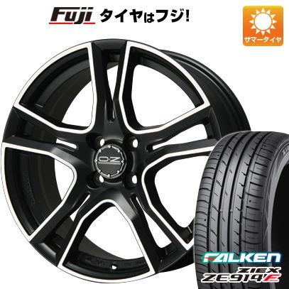 タイヤはフジ 送料無料 OZ X-LINE アドレナリーナ 6J 6.00-15 FALKEN ジークス ZE914F 185/65R15 15インチ サマータイヤ ホイール4本セット