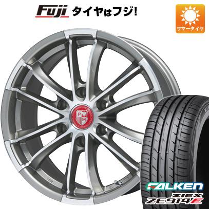 タイヤはフジ 送料無料 ハイエース200系 PREMIX シャンクス(チタニウムシルバーポリッシュ) 7.5J 7.50-18 FALKEN ジークス ZE914F 225/50R18 18インチ サマータイヤ ホイール4本セット