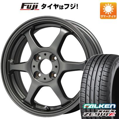 タイヤはフジ 送料無料 LEHRMEISTER リアルスポーツ カリスマVS6 4.5J 4.50-15 FALKEN ジークス ZE914F 165/55R15 15インチ サマータイヤ ホイール4本セット