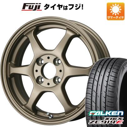 タイヤはフジ 送料無料 LEHRMEISTER リアルスポーツ カリスマVS6 4.5J 4.50-14 FALKEN ジークス ZE914F 165/60R14 14インチ サマータイヤ ホイール4本セット