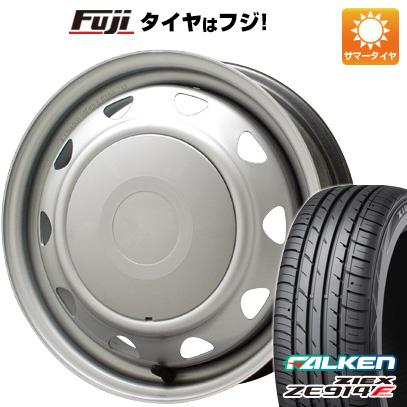 タイヤはフジ 送料無料 ELBE エルベ オリジナル スチール 4.5J 4.50-14 FALKEN ジークス ZE914F 165/55R14 14インチ サマータイヤ ホイール4本セット
