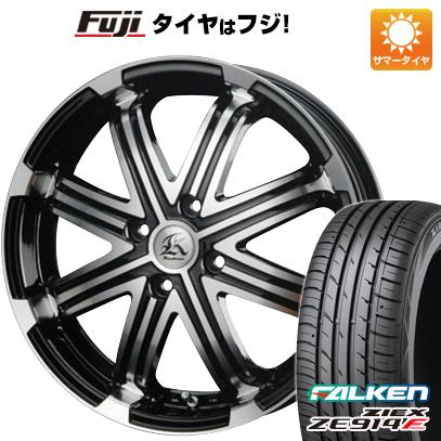 タイヤはフジ 送料無料 TECHNOPIA テクノピア カシーナ V-1 4.5J 4.50-14 FALKEN ジークス ZE914F 165/60R14 14インチ サマータイヤ ホイール4本セット