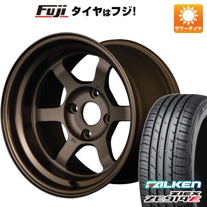 タイヤはフジ 送料無料 RAYS VOLK TE37V 7J 7.00-15 FALKEN ジークス ZE914F 195/55R15 15インチ サマータイヤ ホイール4本セット