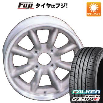 タイヤはフジ 送料無料 WATANABE ワタナベ エイトスポーク 5.5J 5.50-15 FALKEN ジークス ZE914F 165/55R15 15インチ サマータイヤ ホイール4本セット