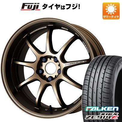 タイヤはフジ 送料無料 WORK ワーク エモーション D9R F:8.50-18 R:9.50-18 FALKEN ジークス ZE914F F:225/50R18 R:245/45R18 サマータイヤ ホイール4本セット