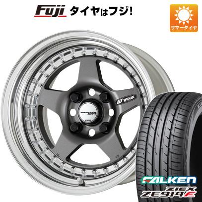 タイヤはフジ 送料無料 WORK ワーク マイスター CR01 6.5J 6.50-15 FALKEN ジークス ZE914F 185/65R15 15インチ サマータイヤ ホイール4本セット