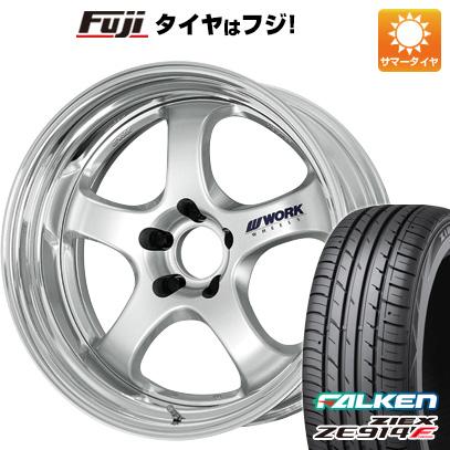 タイヤはフジ 送料無料 WORK ワーク マイスター S1R 7.5J 7.50-18 FALKEN ジークス ZE914F 235/50R18 18インチ サマータイヤ ホイール4本セット