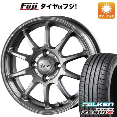 タイヤはフジ 送料無料 INTER MILANO インターミラノ LCZ 010 4.5J 4.50-15 FALKEN ジークス ZE914F 165/55R15 15インチ サマータイヤ ホイール4本セット