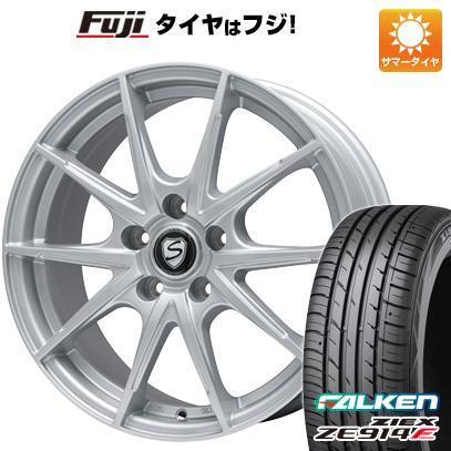 タイヤはフジ 送料無料 BRANDLE ブランドル 039 7.5J 7.50-18 FALKEN ジークス ZE914F 215/40R18 18インチ サマータイヤ ホイール4本セット
