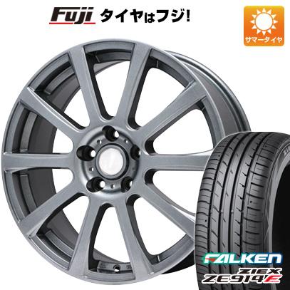 タイヤはフジ 送料無料 BRANDLE ブランドル 565T 6J 6.00-15 FALKEN ジークス ZE914F 195/65R15 15インチ サマータイヤ ホイール4本セット
