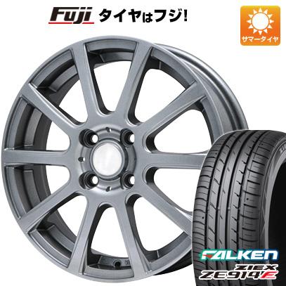 タイヤはフジ 送料無料 BRANDLE ブランドル 565T 4.5J 4.50-14 FALKEN ジークス ZE914F 165/55R14 14インチ サマータイヤ ホイール4本セット