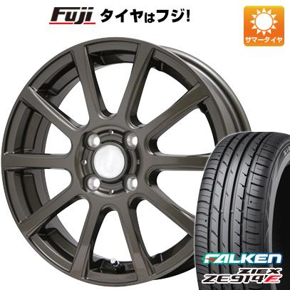 タイヤはフジ 送料無料 BRANDLE ブランドル 565Z 4.5J 4.50-14 FALKEN ジークス ZE914F 165/60R14 14インチ サマータイヤ ホイール4本セット