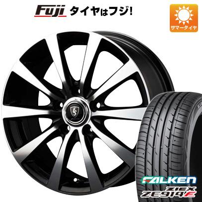 タイヤはフジ 送料無料 MID ユーロスピード BL-10 6J 6.00-16 FALKEN ジークス ZE914F 195/50R16 16インチ サマータイヤ ホイール4本セット